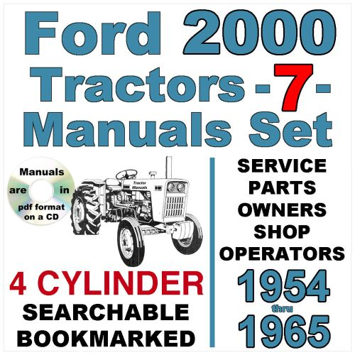 small resolution of details about ford 2000 4 cylinder tractor service parts owners manual 7 manuals 1954 65 cd