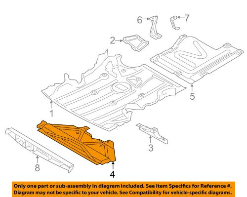 small resolution of details about bmw oem 328i xdrive splash shield fr under radiator engine cover 51757145287