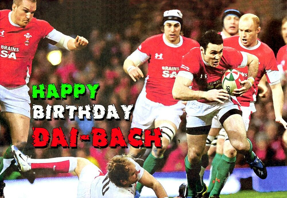 Wales Welsh Rugby Team Cymru Happy Birthday PERSONALISED