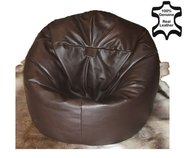 bean bag chair refill beads upholstered dining chairs nz xl real leather beanbag beanbags filled new | ebay
