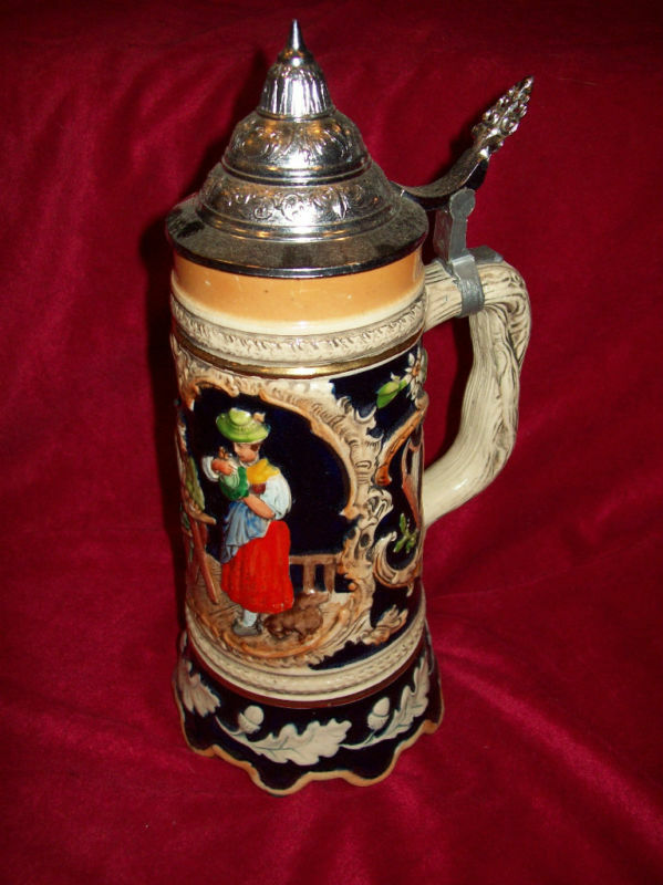 WEST GERMAN MUSICAL BEER STEIN LIDDED DBGM #76 MINT EBay