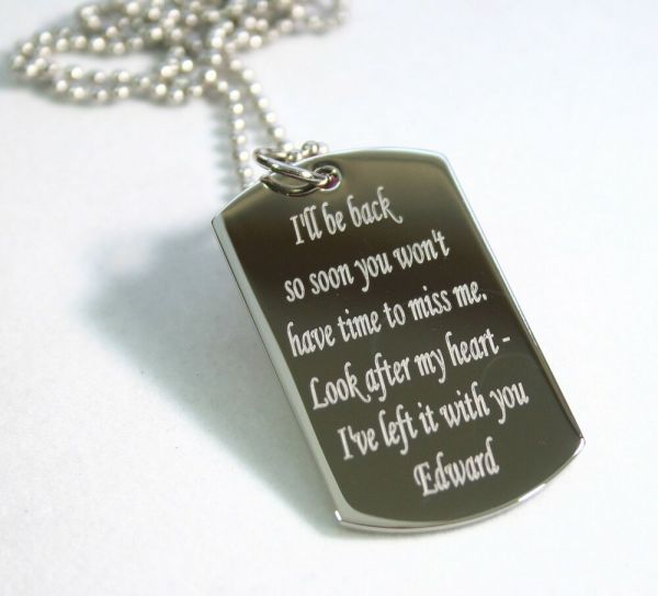 Remember Message Quote Love Dog Tag Necklace