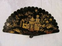 Antique Chinese Export Lacquered Brise Fan Circa 1820 | eBay