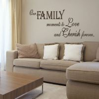 LARGE BEDROOM QUOTE FAMILY LOVE GIANT WALL ART STICKER ...
