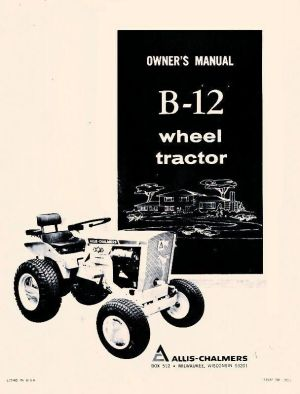 Allis Chalmers B12 B12 Wheel Tractor Operators Manual | eBay