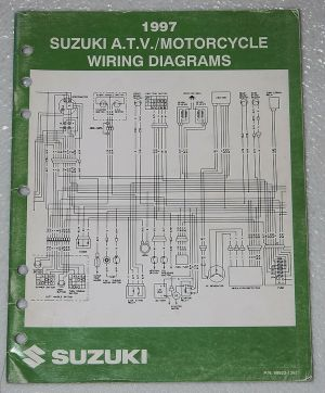 1997 SUZUKI Motorcycle ATV Wiring Diagrams Manual Electrical Troubleshooting 97 | eBay
