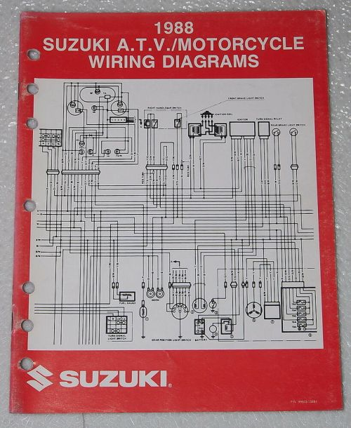 small resolution of details about 1988 suzuki motorcycle and atv electrical wiring diagrams manual 88 j models