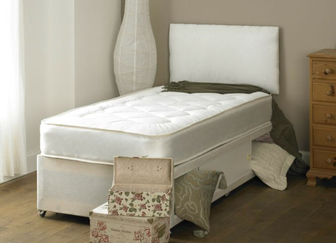 Small Double Deep Quilt 4ft Divan Bed And Mattress Headboard Storage Ebay