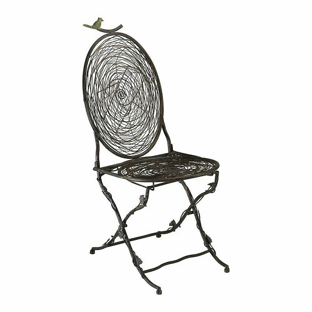 Bird Nest Bistro Chair Branches Leaves Nature  Cyan