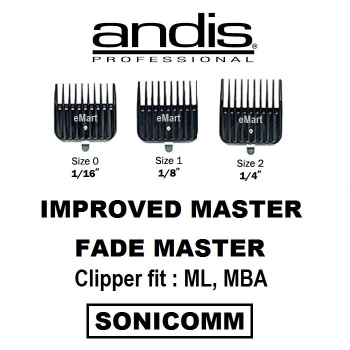 Andis Improved Master, Fade Master Attachment Guides Comb