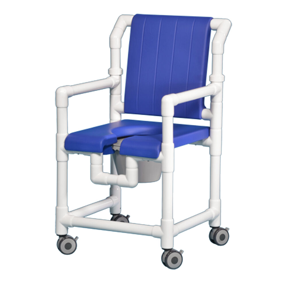 ROLLING OPENFRONT DELUXE SHOWER CHAIR COMMODE SCC700 B  eBay
