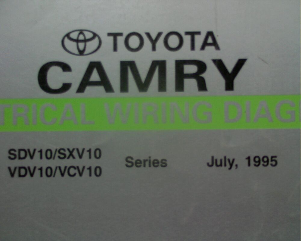 medium resolution of details about 1995 toyota camry electrical wiring diagrams workshop manual