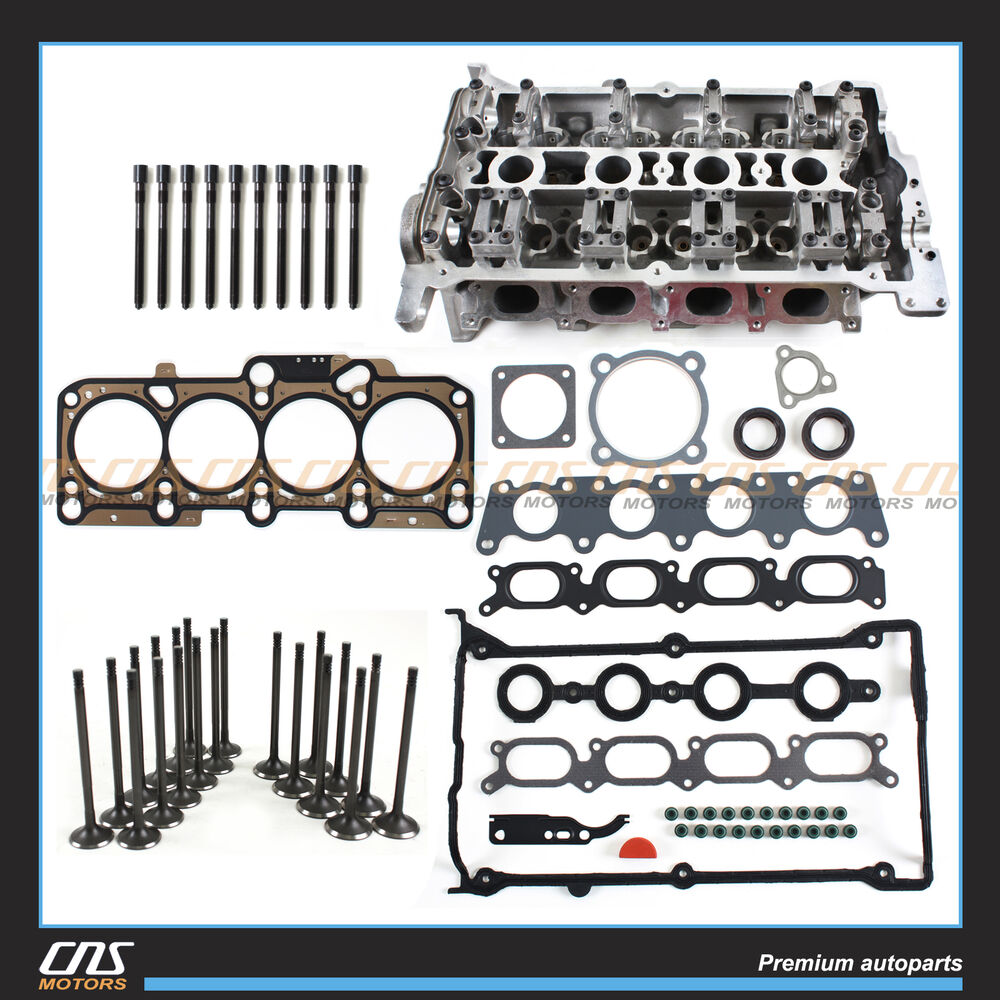 medium resolution of details about bare cylinder head head gasket set bolts 136mm valve kit audi vw 1 8l turbo