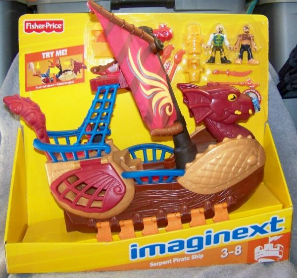 Imaginext Dragon World 2010 Serpent Pirate Ship Set With