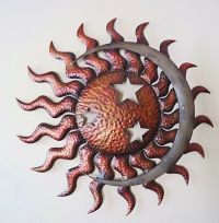 Celestial Sun Moon & Stars Wall Art Large Metal Indoor ...