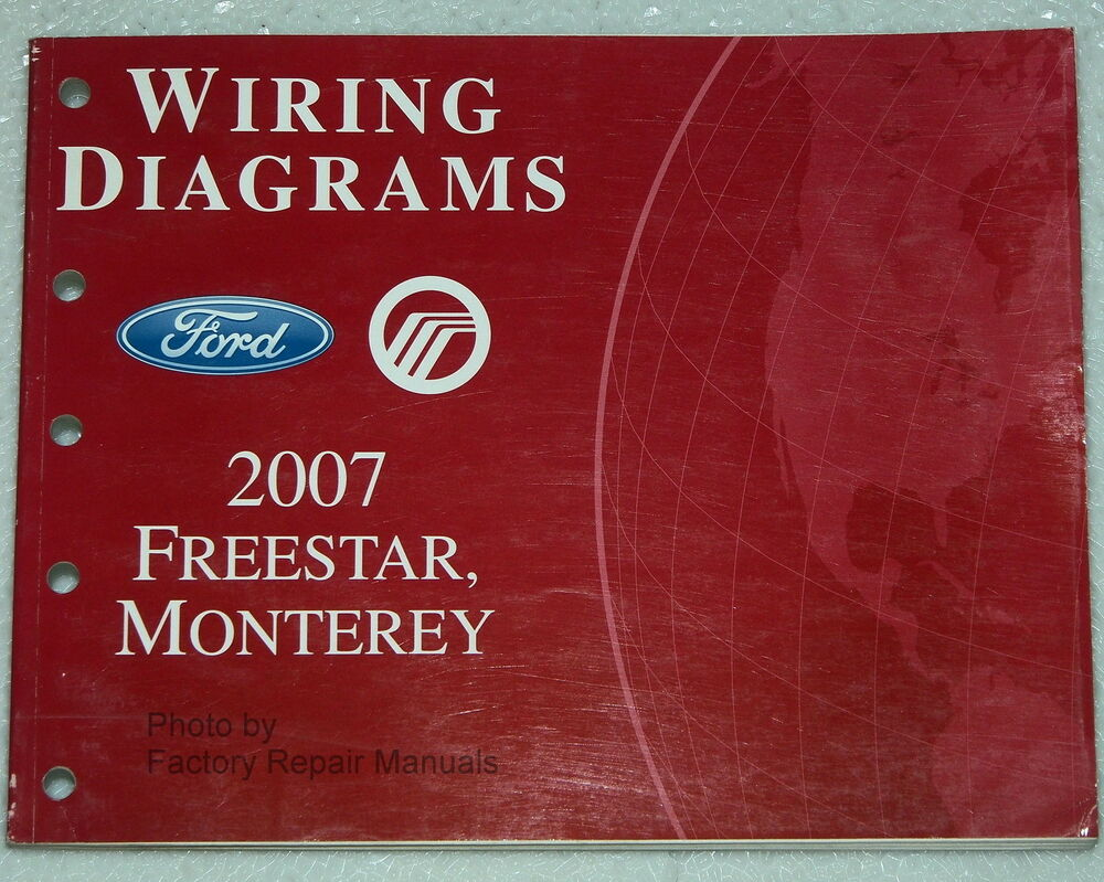 hight resolution of 2007 ford freestar mercury monterey electrical wiring diagrams shop manual ebay
