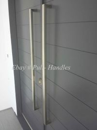 Entry Front Door Pull Square Handle stainless steel ...