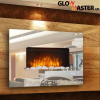 DESIGNER LARGE WALL MOUNTED ELECTRIC FLICKER FLAME MIRROR ...