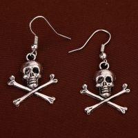 Punk Gothic jewelry Tibetan Silver death Skull Skeleton