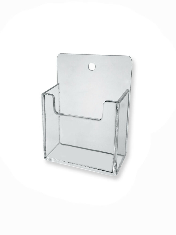 Clear Plastic Wall Mount Vertical Business Card Holder
