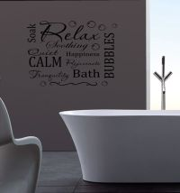 Relax Wall Sticker Mural Decal removable vinyl Bathroom ...