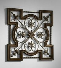 Ornate Tuscan Old World Wrought Iron & Wood Fleur De Lis ...