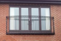 Curved juliet balcony balustrade railing - Wrought iron ...