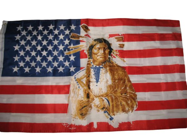 3x5 USA United States American Indian Cherokee Flag 339x5