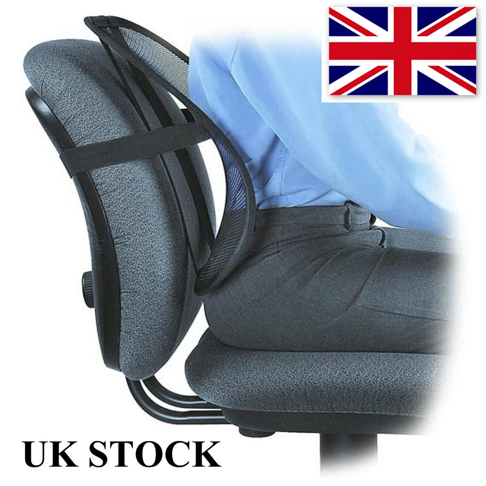 posture support seat cushion wooden glider chair with ottoman back lumbar pain relief car office | ebay