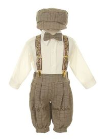 New Baby Infant Boys Beige Knickers Vintage Suit Set ...