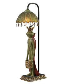 King Frog Accent Lamp Crown & Red Cape Fairy Tale Table ...