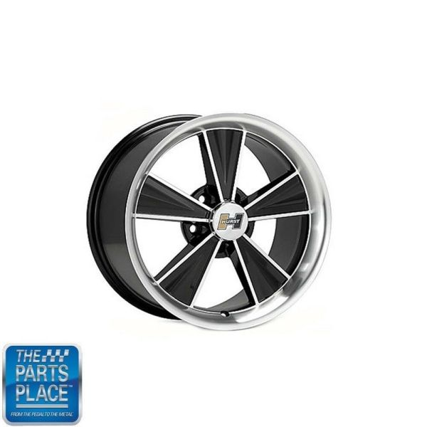 17 X 8 Hurst Wheels Set Of 4 - Gm Retro Black Machined