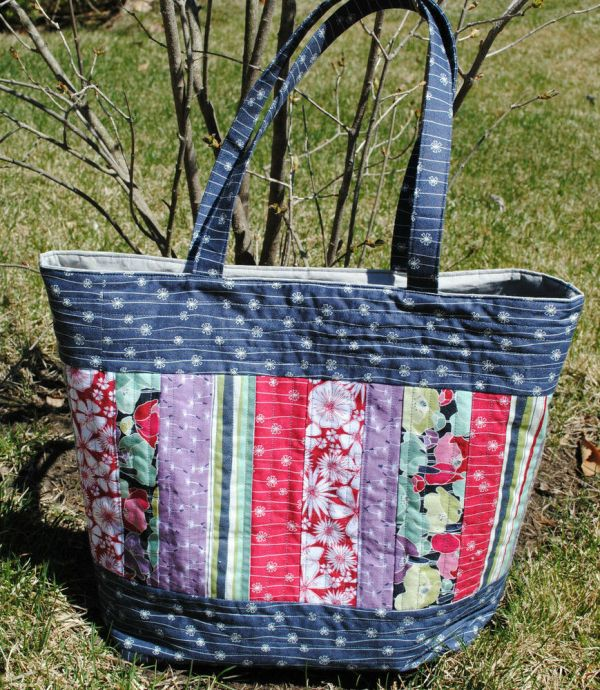 Large Tote Bag Pattern Quilted Sewing Mary