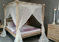 Balinese Rumple Four Poster Bed Canopy Muslin Mosquito Net ...