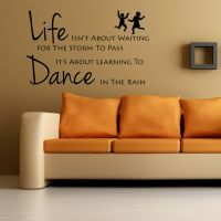 Life Is About Learning To Dance In The Rain Wall Art ...
