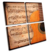 Acoustic Guitar Musical MULTI CANVAS WALL ART Picture ...