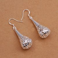 925 Sterling Silver Drop Dangle Hook Earrings L22