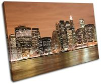 NYC New York Skyline City SINGLE CANVAS WALL ART Picture ...