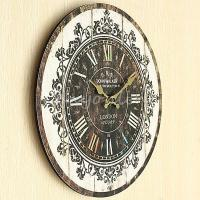 Large Wall Clock Tracery Vintage Rustic Shabby Chic Home ...