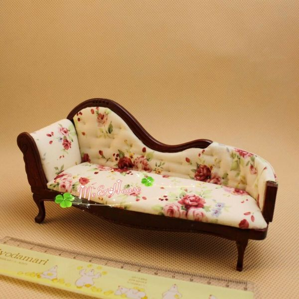 112 Dollhouse Miniature furniture Chaise Couch Vintage