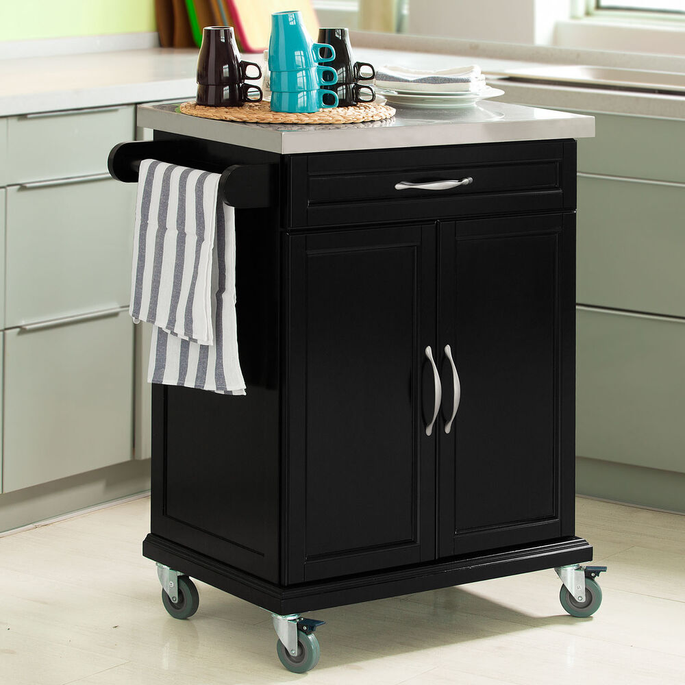 SoBuy Wood Kitchen CabinetKitchen Cart Trolley with