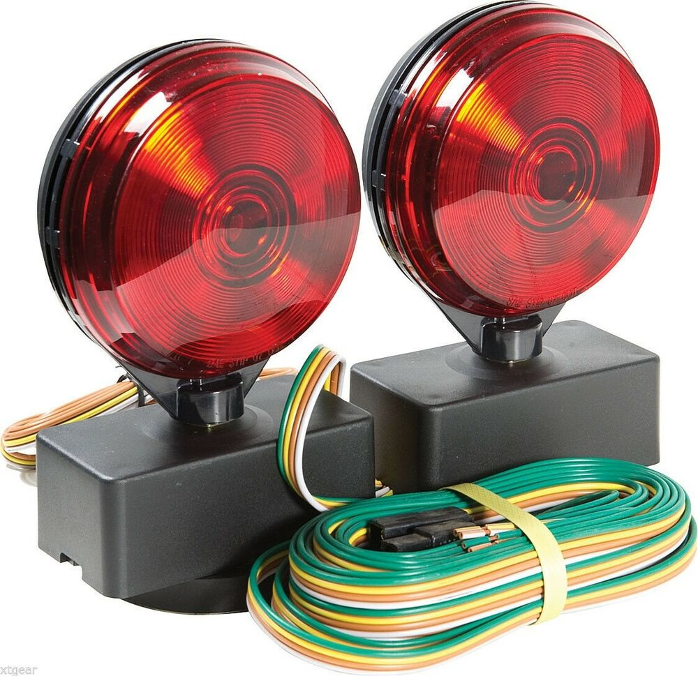 hight resolution of details about 12v magnetic towing tow light kit trailer rv dolly tail for towed car boat truck