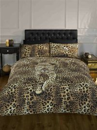 CLASSIC DOUBLE SAFARI SERENGETI LEOPARD COTTON DUVET QUILT ...