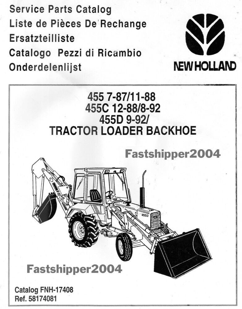 Ford New Holland Tractors 455 455C 455D Loader Backhoe