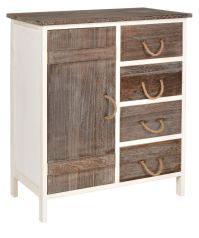 Landhaus Kommode Flur Bad Schrank Bi-Color Regal in zwei ...