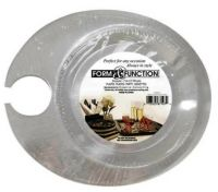 48 APPETIZER PLASTIC PLATES WITH WINE GLASS HOLDER