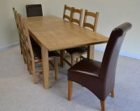 Large French Farmhouse Oak Double Extending Dining Table ...
