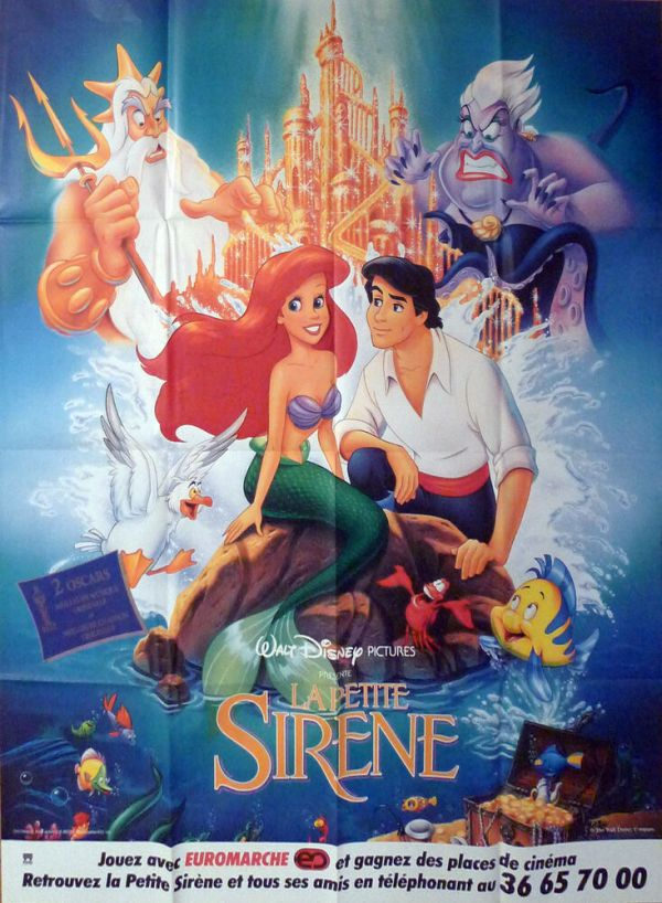 THE LITTLE MERMAID DISNEY SEA ORIGINAL LARGE FRENCH