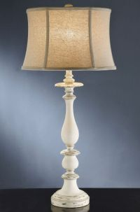 Shabby Cottage Chic Table Lamp French Country Style ...
