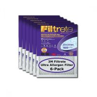 3M Filtrete 1500 Ultra Allergen Air Filters 6-PACK 25x25x1 ...